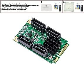 huicouldtool 4 Port SATA III 6G Mini PCIE Mini PCI-e Marvel 88SE9215 Controller Card SATA 3.0 Mini PCI Express SSD Adapter Card