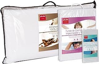 Set de descanso Pikolin Home para cama 90 - Funda de colchón impermeable y transpirable (90 x 190/200 cm), almohada de fibra antiácaros (40 x 90 cm) y funda de almohada lyocell (40 x 90 cm)