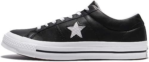 Converse One Star Ox noir blanc, paniers Mixte Adulte