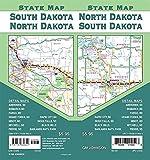 North Dakota / South Dakota State Map