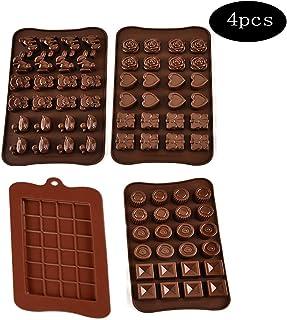 integrity.1 4 Piezas Moldes para Bombones de Silicona,Truffle Mold Paquetes de Moldes de Silicona,Antiadherente de Grado Alimenticio para Chocolate, Caramelo de Café, Caramelos