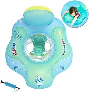 Flotador de Natación para Bebés con Asiento Anillo,Bebé Recién Nacido Aprende a Nadar Entrenador Inflable Flotador Ajustable para Piscinas para Bebés,Anillo de Natación para Bebés (5-18 Meses,S)