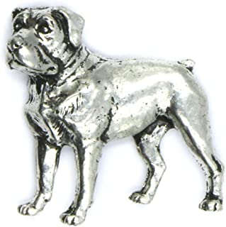 CamelRedBox Mastiff Dog Pins Brooches Badges Accessories for Animal Hunting and Fishing Fans Present for Men Women and Chi...