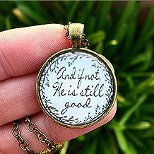 Bible Verse Pendant Necklace
