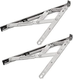 uxcell 12-inch Length 201 Stainless Steel Foldable Casement Window Friction Hinge Stay 2pcs