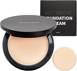 Bellasophy Compact Pur Mineral Creamy Soft Smooth Matte Full Coverage Foundation Long Lasting with The Sponge-Light Beige