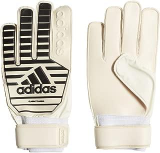 adidas Adult Classic Training Soccer Goalkeeper Gloves (White/Black, 9)