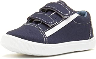 Girls Canvas Shoe Easy Fasten Shoe in Denim by Chatterbox Jazmine