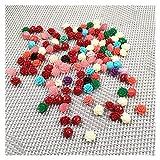 Joyas para mujeres Grabado de coral sintético Forma de flores Punch Perlas sueltas Perlas de aislamiento para la fabricación de joyas BRICOLAJE Accesorios de pulsera de collar al menos comprar diez Co