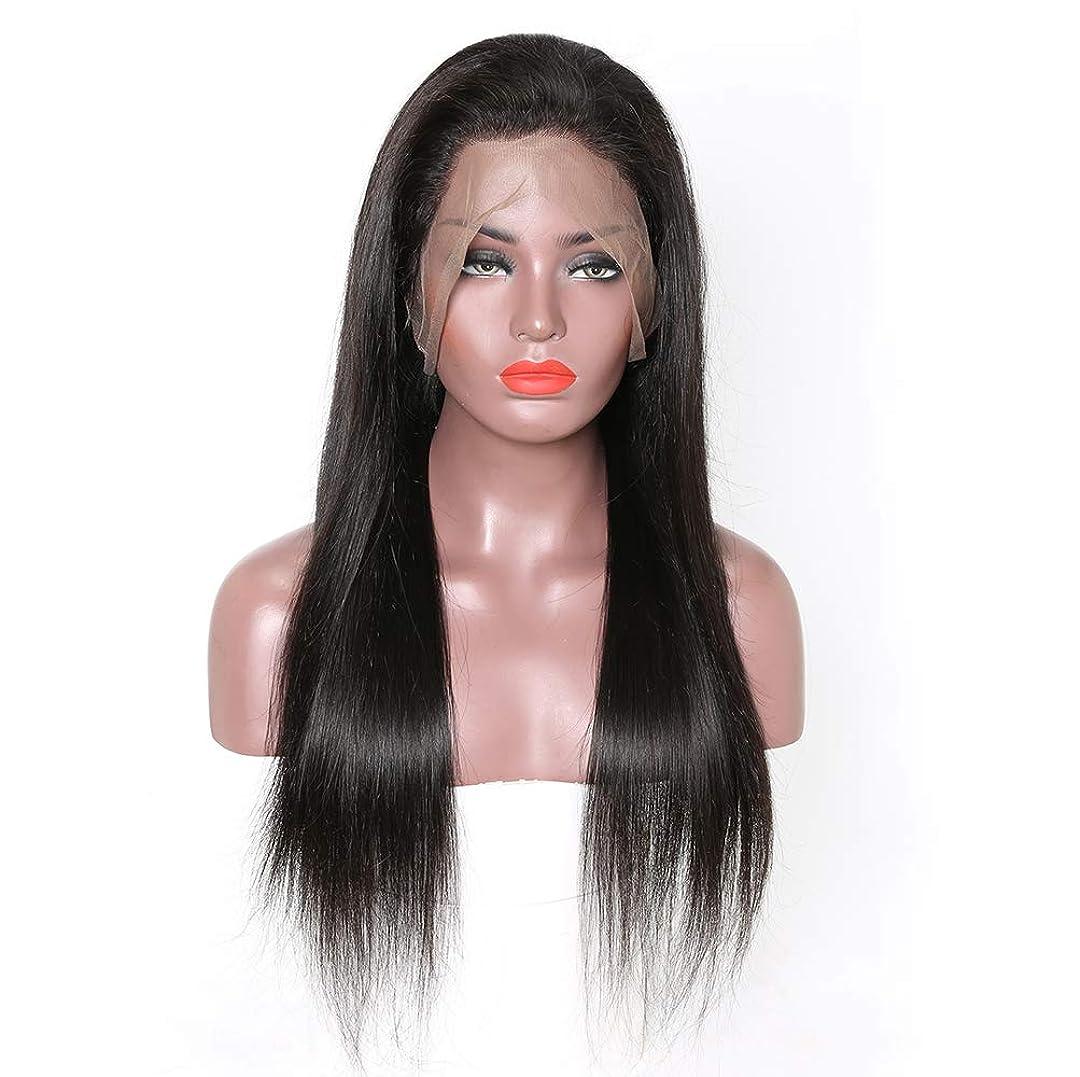 唯物論特派員浮く女性のremy人間の髪360レースフロントかつら女性のためのナチュラルストレートブラジル髪の赤ん坊の毛