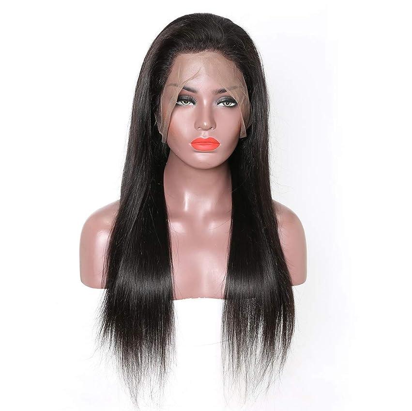 伝える認証どっちでも女性のremy人間の髪360レースフロントかつら女性のためのナチュラルストレートブラジル髪の赤ん坊の毛