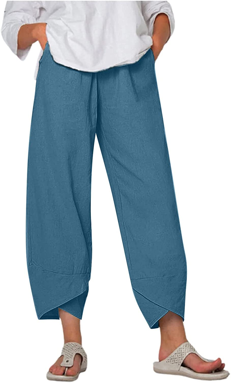 USYFAKGH Sweatpants Pants for Women, Summer Beach Casual Pants, Print Jogger Cropped Trouser
