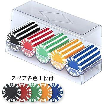 ALBAN 本格カジノポーカーチップ + スペア各1枚付 / 直径40mm / 5色(各色20枚、計100枚セット)