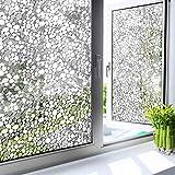 LMKJ Película de Ventana Decorativa de adoquines 3D para protección de la privacidad calcomanía estática Pegatina de Vidrio Pegatina de Vinilo para Ventana A40 45x100cm