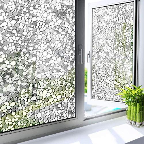 LMKJ Película de Ventana Decorativa de adoquines 3D para protección de privacidad calcomanía estática Pegatina de Vidrio Pegatina de Vinilo para Ventana A40 60x200cm