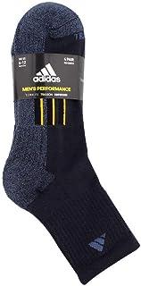 Adidas Mens 4 Pack Performance High Quarter Socks