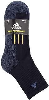 Mens 4 Pack Performance High Quarter Socks