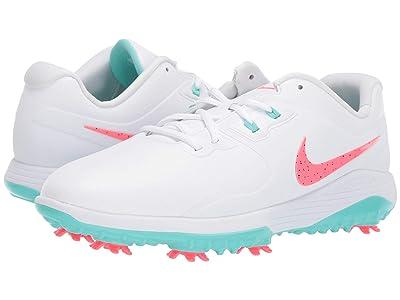Nike Golf Vapor Pro (White/Hot Punch/Aurora Green) Men