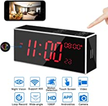 LITSPED Spy Camera, 1080P HD WiFi Hidden Camera Clock with 33FT Night Vision,Motion Detection,Video Recording/Remote Monitoring with iOS/Android App,Baby Monitor,Small Wireless Home Security Surveil