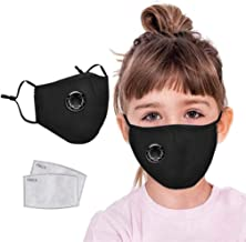 Face for Adults Kids 3 Layer Plys Bandanas with Elastic Band Dust Mouth Particle Breathable Home Office Outdoor Indoor School Men Women Fitness Sport Exercise,6Pcs Macks 12Pcs Replacement