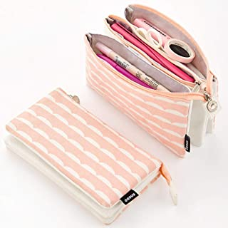 EASTHILL Big Capacity Pencil Pen Case Office College School Large Storage High Capacity Bag Pouch Holder Box Organizer (Pink)