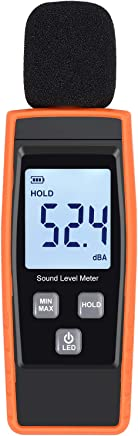 Yosoo 9.6 Inch LCD Digital Sound Level Meter Accurate Noise Tester 30~130dB Hanging Type Decibel with Alarm in Many Places