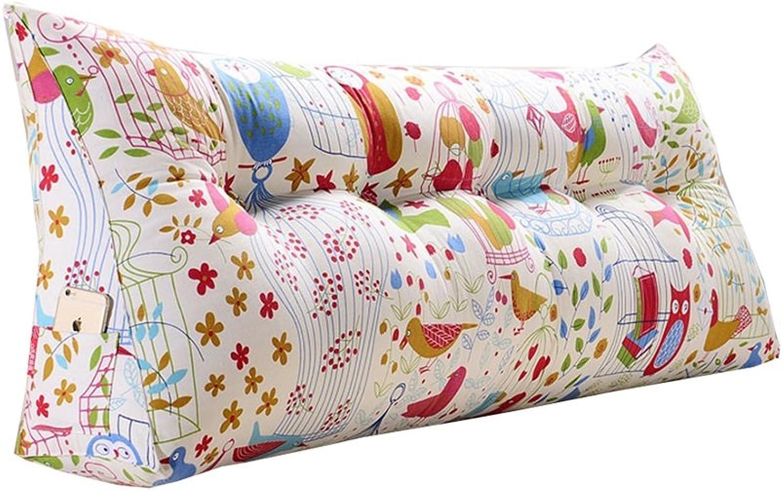 Coussins triangulaires détachables de bande dessinée lit moelleux de lit de coussins de lit de sac d'oreiller (taille   200  50  20cm)