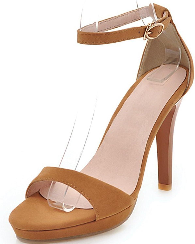 SaraIris Women's Open Toe Stiletto Heel Summer shoes Elegant Ankle Strap Dress Sandals