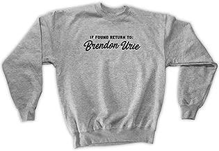 Outsider. Men's Unisex If Found Return to Brendon Urie Sweatshirt