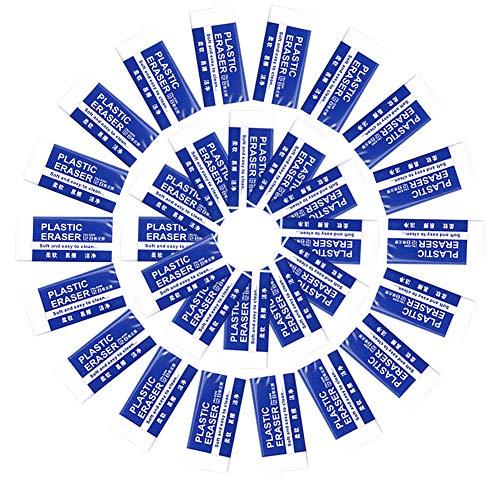 30 Radiergummis (Im Karton),Langlebiger Weißer Radiergummi Aus Kunststoff,Mini-Radiergummi 2B,Leicht Zu Löschen, Ohne Spuren Zu Hinterlassen,Geeignet Für Schule,Büro, Skizzenraum,Kunstmalerei
