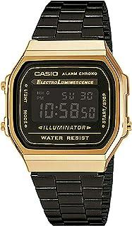Casio Unisex Digital A168WEGB-1BVT Japan-Automatic Stainless Steel Watch Gold