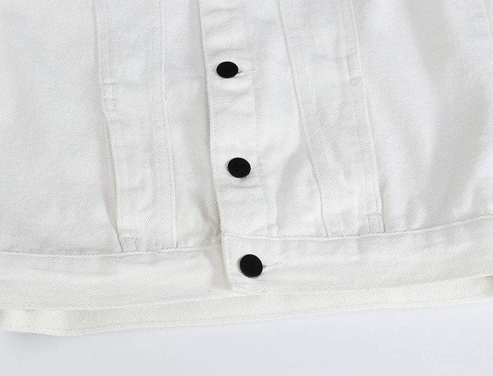 DSDZ Men's Sleeveless Ripped Denim Vest Casual Slim Fit Button Down Jeans Vests Jacket