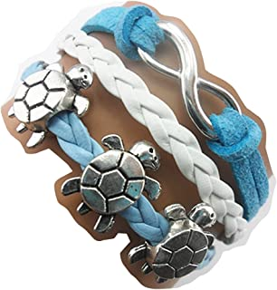Ac Union Handmade Infinity Cute Unicorn Tortoise Angel Wings Owl Butterfly Anchor Brids Heart Best Friend Charm Friendship Gift Leather Bracelet