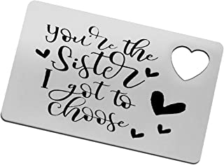 Sister Gift Sister Wallet Card from Sister Brother, Best Friend, Soul Unbiological Sister, Besties, BFF Gifts for Women Gi...
