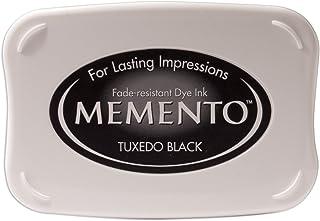 Tsukineko ME000900 Full-Size Memento Fade Resistant Inkpad, Tuxedo Black