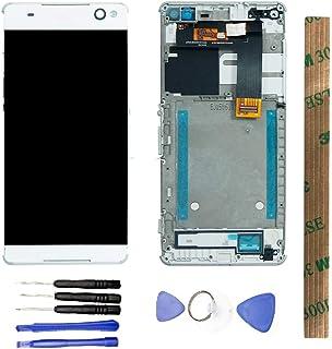 JayTong - visualización LCD y digitalizador de visualización táctil de Repuesto para Xperia C5 Ultra LTE E5533 E5553 E5506 E5563 Blanco con Macro