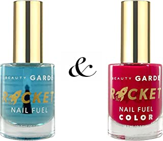 BeautyGARDE Rocket Nail Fuel Combo- 1 Rocket Nail Fuel & 1 Five Star Review Color, Strengthener & Booster, Nonie Creme
