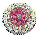 Funda Cojines, Xinan Cojines Redondos de Bohemian Cushion Indian Mandala Floor Pillows 43 * 43cm (D)