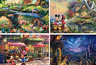 Ceaco Thomas Kinkade The Disney Collection Multipack 4 in 1 Puzzle - 500 Piece Each