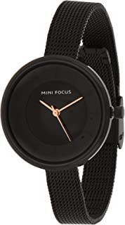 Mini Focus Womens Quartz Watch, Analog Display and Stainless Steel Strap - MF0331L.05