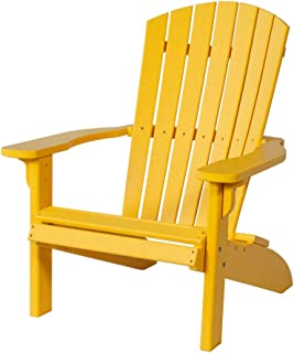 Poly Fan-Back Adirondack Chair, Yellow