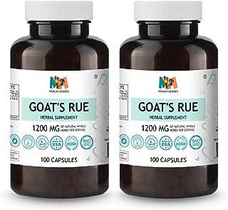 Goat's Rue Vegan Capsules, 1200MG, Organic Goat's Rue Herb (Galega officinalis) (2x100 Capsules)