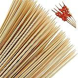 Stockbrot Spieße aus Bambus, Schaschlik-Spieße Bambus-Holz 40cm - 200 Stück, Lagerfeuer, Grillspieße 5 mm