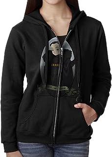 KOBT Women`s Here We Stand Lyanna Mormont Zip-Up Hoodie Jackets Black