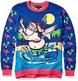 Blizzard Bay Men's Ugly Christmas Sweater Santa,...