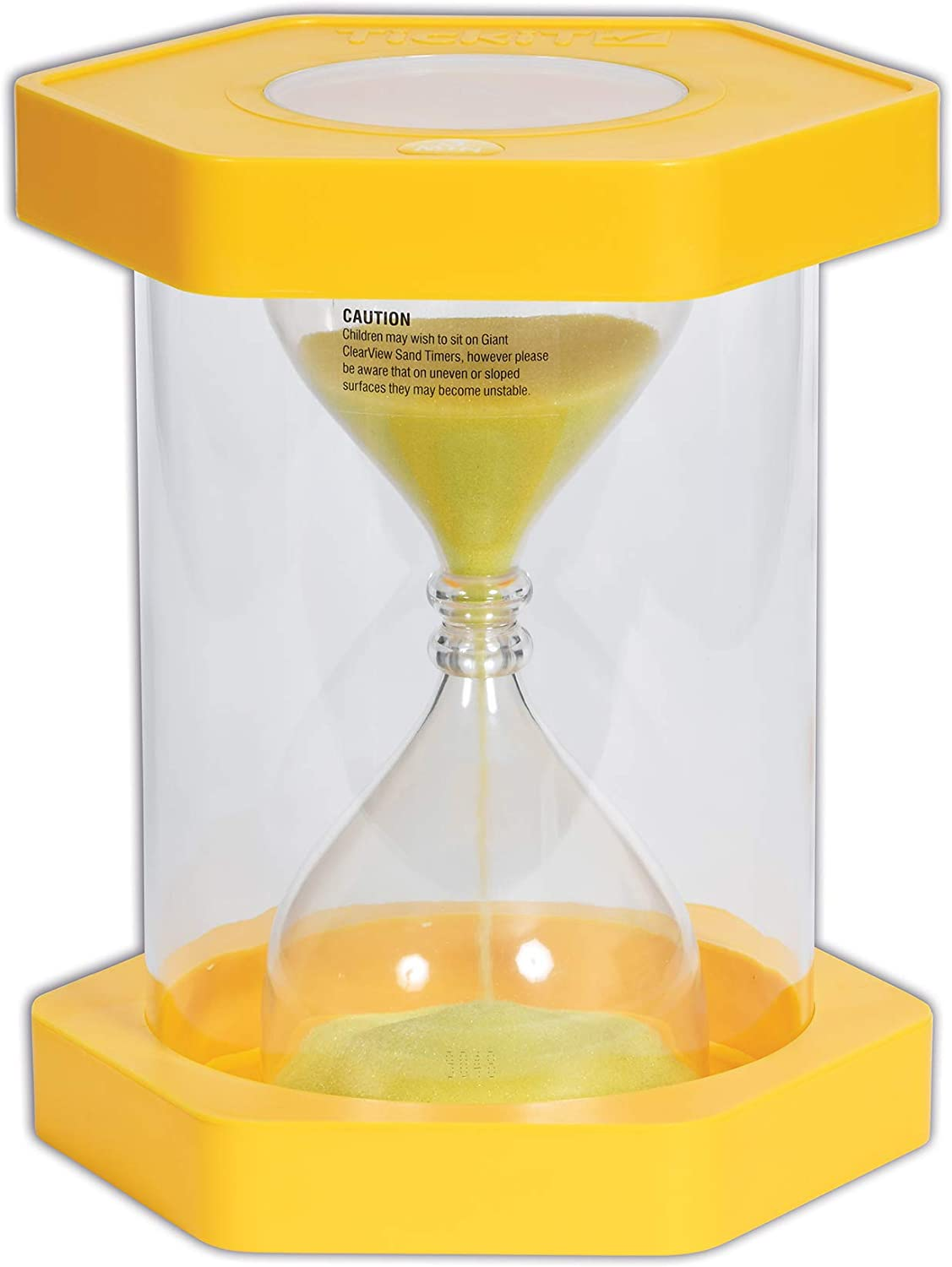 TickiT 92030 Giant Clearview Sand Timer, 3 minutes, 270 mm Diameter, Yellow