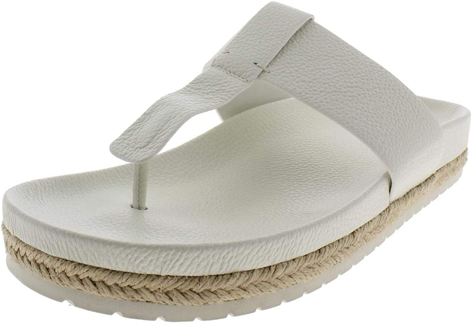 Vince Womens Avani Leather Espadrille Thong Sandals