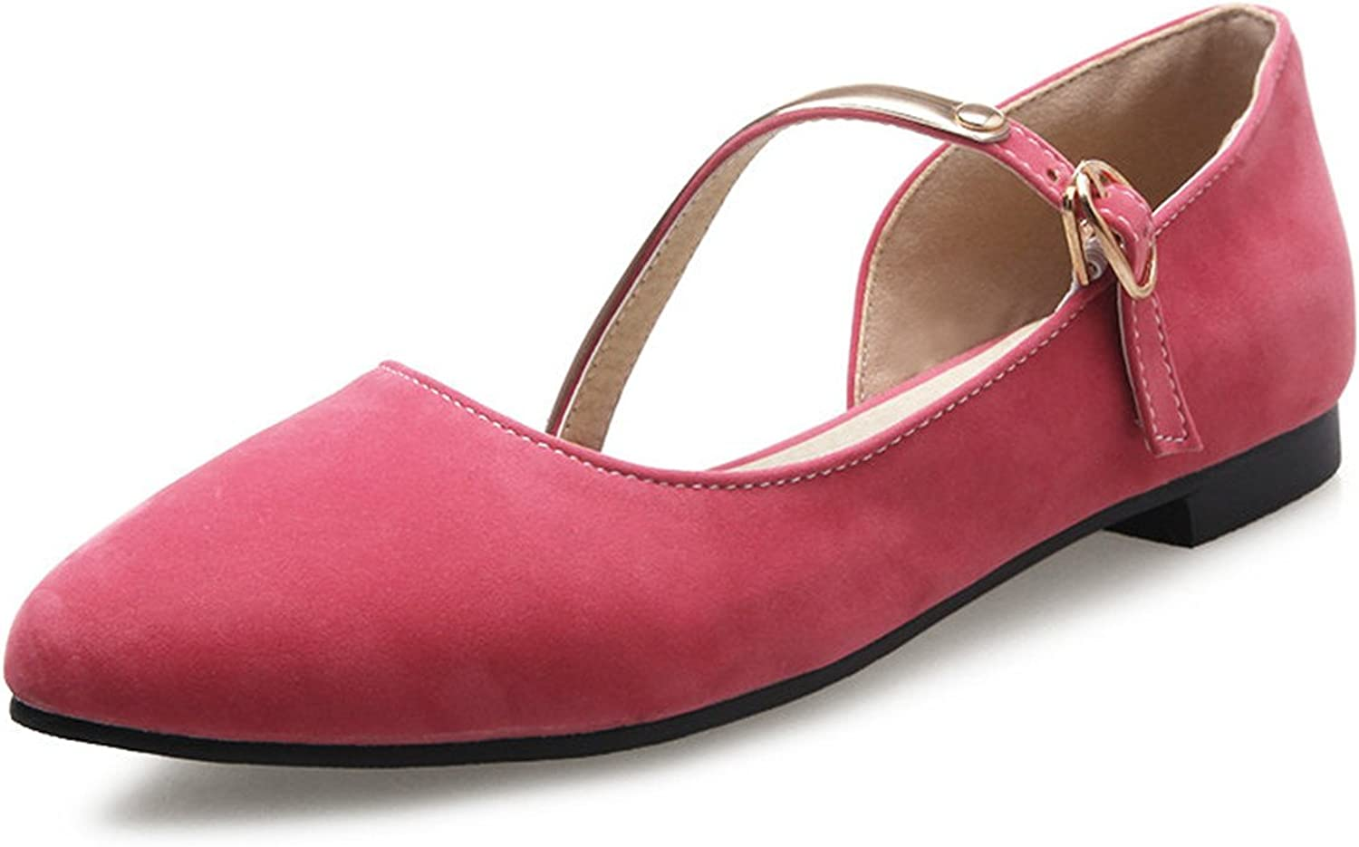 Henraly Women Flats Popular Pointed Toe Concise Flats Comfortable Black Beige Pink bluee shoes Woman US Size 4-14