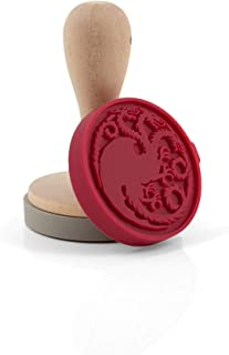 Game of Thrones Silicone Cookie Stamps | House Stark Dire Wolf & House Targaryen Dragon Emblems | Interchangeable Set Of 2