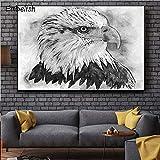 BailongXiao Cuadro En Lienzo White Eagle Head Wall decoración del hogar Living Room Art Posters pictures30x45cmPintura sin Marco